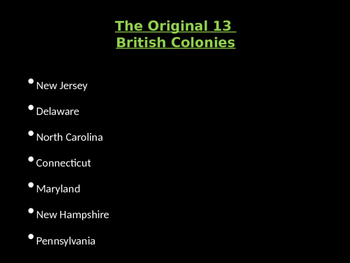 13 Colonies Map Quiz