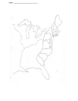13 Colonies Map Quiz by Adam Craft | Teachers Pay Teachers