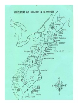 Colonization: 13 colonies Map and Graphic Organizer