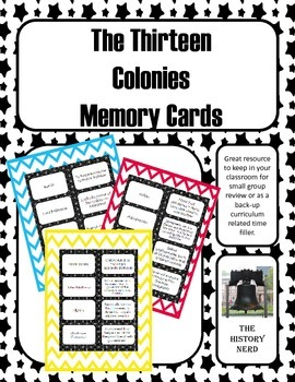 13 Colonies Memory Cards