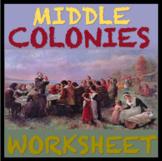 Middle Colonies Worksheet