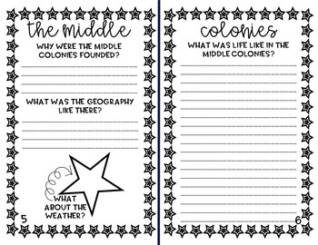 13 Colonies Note-Taking Fold Book