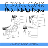 13 Colonies Note Taking Pages