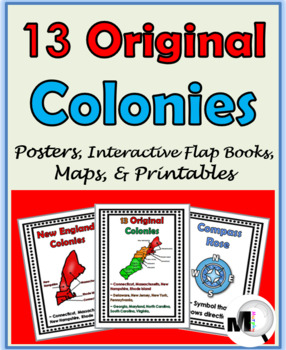 13 Colonies Posters, plus Maps, Interactive Flap Books, an