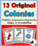 13 Colonies Activities Posters Maps Interactive Flap Books