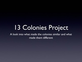 13 Colonies Project with rubric