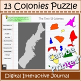 13 Colonies Puzzle Interactive Journal Distance Learning a