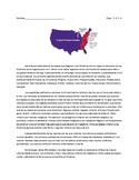 13 Colonies Reading w/ Questions (IN SPANISH)