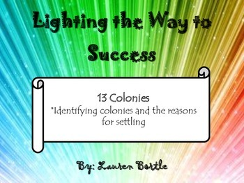 13 Colonies - Reasons for settling - Categorizing colonies