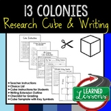 13 Colonies Activity Research Cube with Writing Extension Activity Pack