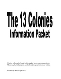 13 Colonies Research Packet and Activity