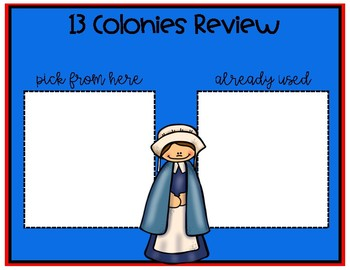 13 Colonies Review Board Game