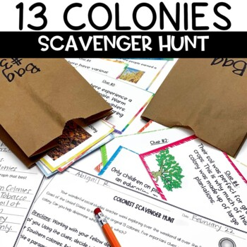 13 Colonies Scavenger Hunt Activity