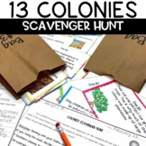 13 Colonies Editable Scavenger Hunt Review Game Activity