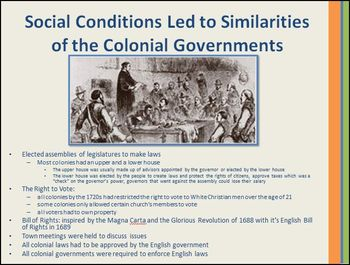 13 Colonies: Social Conditions in the Colonies Led to Differences PowerPoint