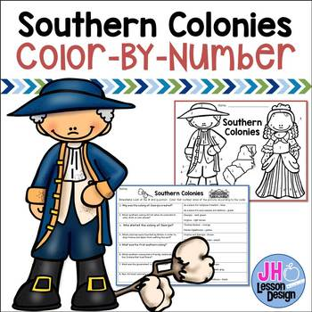 13 Colonies - Southern Colonies - Color-By-Number