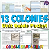 13 Colonies Study Guide and Unit Packet
