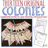 13 Colonies Supplemental Activities