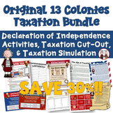 American Revolution 13 Colonies Taxation Bundle of Activities