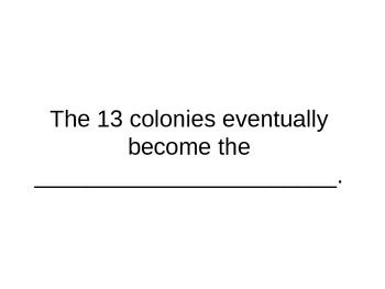 13 Colonies Test Review