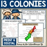 13 Colonies | Thirteen Colonies | Easel Activity Distance