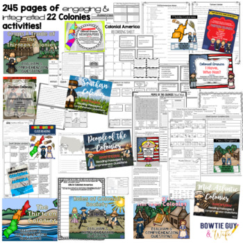 Thirteen Colonies (Colonial) Bundle - Nonfiction Texts, Assessments, Activities
