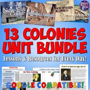 13 Colonies Unit Plan Set