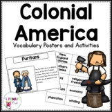 13 Colonies Vocabulary Posters and Activities