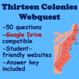 13 Colonies Webquest
