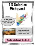 13 Colonies Webquest (colonial America, English Colonies)