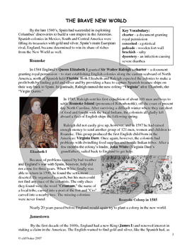 Jamestown, Plymouth, and the 13 Colonies unit bundle, including text