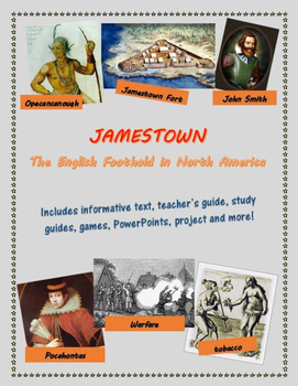 Jamestown, Plymouth, and the 13 Colonies unit bundle, incl