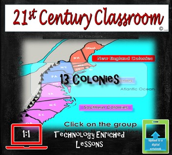 13 Colonies interactive map