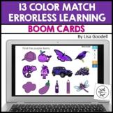 13 Color Match Errorless Digital File Folders BOOM CARDS