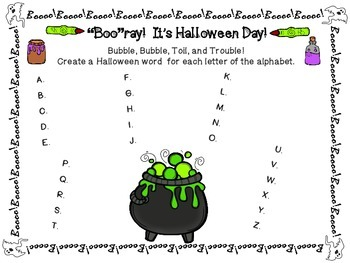 13 Days of Halloween Activity Packet