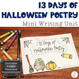 13 Days of Halloween Poetry Mini Lesson Booklet