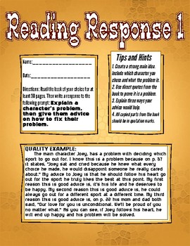13 Different Reading Response Prompts with examples