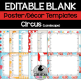 13 Editable Circus Classroom Posters PowerPoint (Landscape Version)