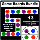 13 Sight Word Game Boards-A Bundle: Editable! Great for Math Facts Too!
