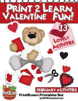 FEBRUARY: 13 VALENTINES DAY ACTIVITIES (Math & Literacy)