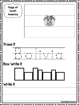 13 Flags of South America Worksheets Geography Curriculum.