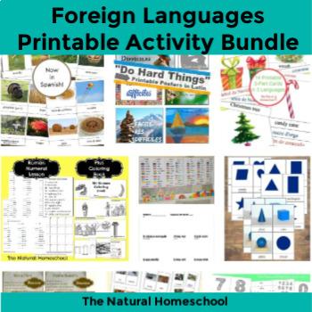 13 Foreign Languages Activities ~ Bundle 1