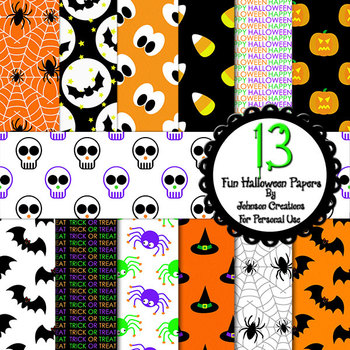 13 Fun Halloween Papers