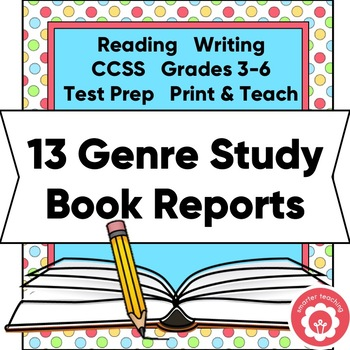 13 One-Page Genre Book Reports