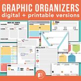 13 Graphic Organizers: Digital + Printable versions in Spa