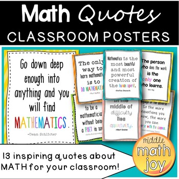 13 inspiring quotes for the math classroom by math joy tpt