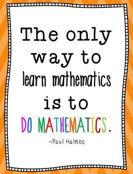 13 Inspiring Quotes for the Math Classroom by Math Joy | TpT