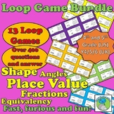 13 Loop Game Bundle - Number, Fractions, Place Value, 2D and 3D Shape, Angles
