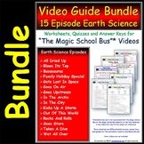 15 Magic School Bus ** Earth Science Series - Worksheets, Ans Sheet, Two Quiz.