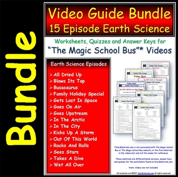 15 Magic School Bus ** Earth Science Series - Worksheets,